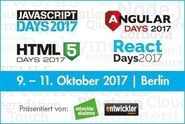 Javascript, Angular Days, React Days, HTML5 2017