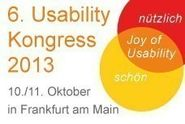 6. Usability Kongress 2013 in Frankfurt am Main