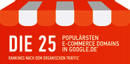Die 25 populärsten eCommerce Domains in google-de